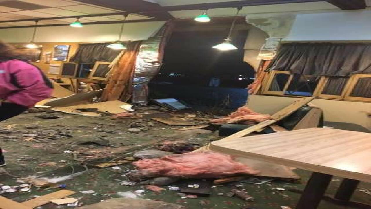 PHOTOS: Car slams into Fowlerville restaurant