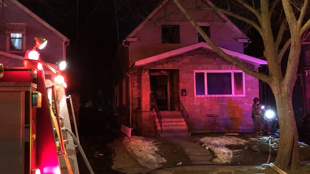 The Buffalo Fire Department says one firefighter was hurt while fighting a fire on Cornwall Avenue early Wednesday morning.