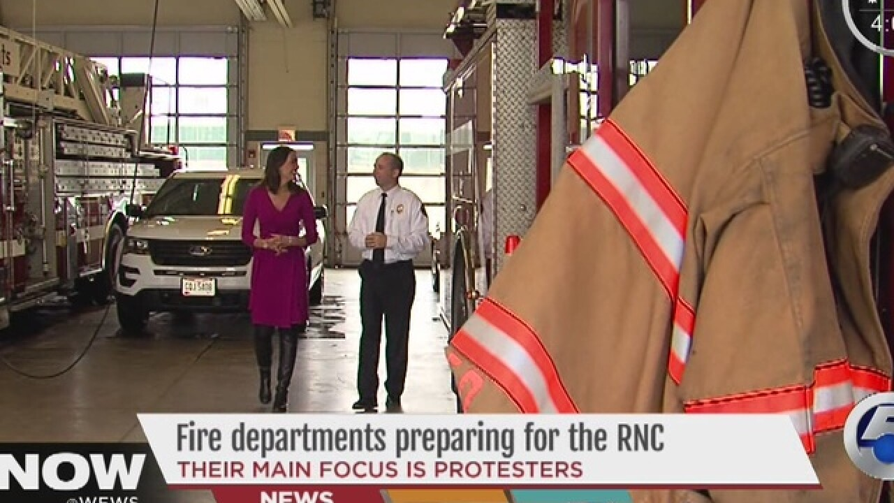 Suburban fire departments gear up for RNC
