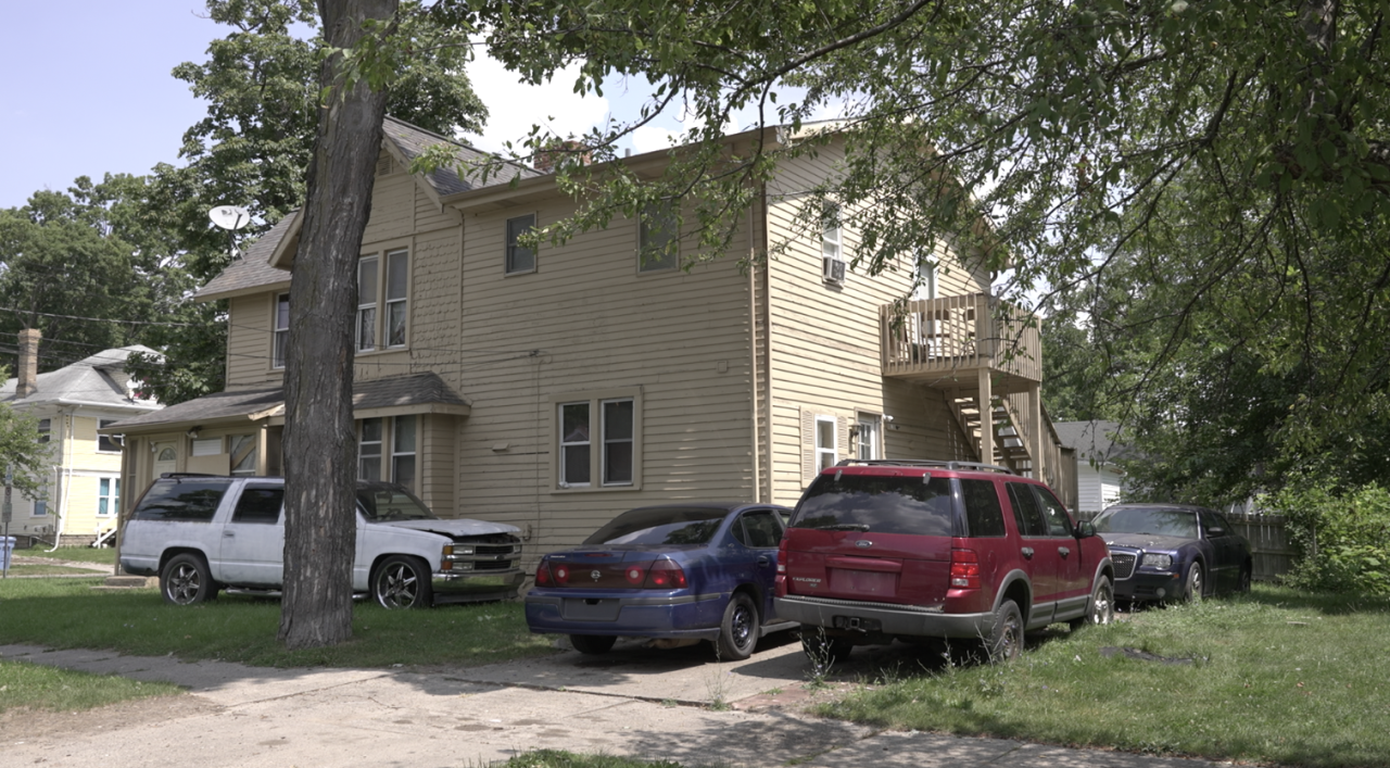 House on N. Chestnut St., identified as one of seven houses and apartments in Lansing where drugs were sold