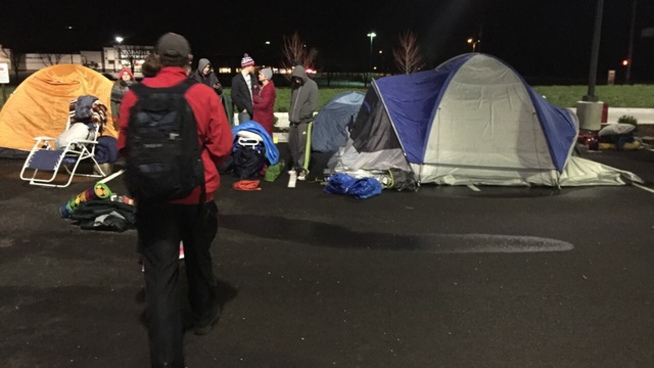 PICS: People camp for Chick-fil-A in Columbus