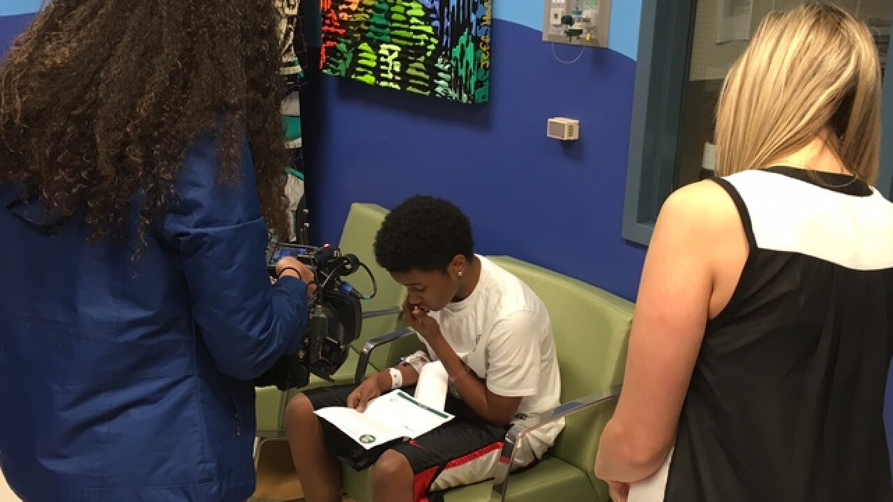 LeBron sends care package to teen in hospital