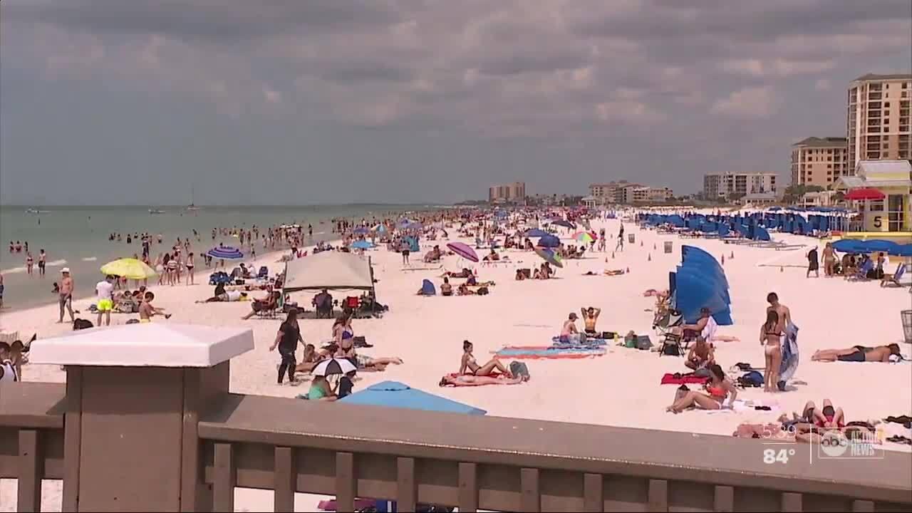 Busy Pinellas Beach