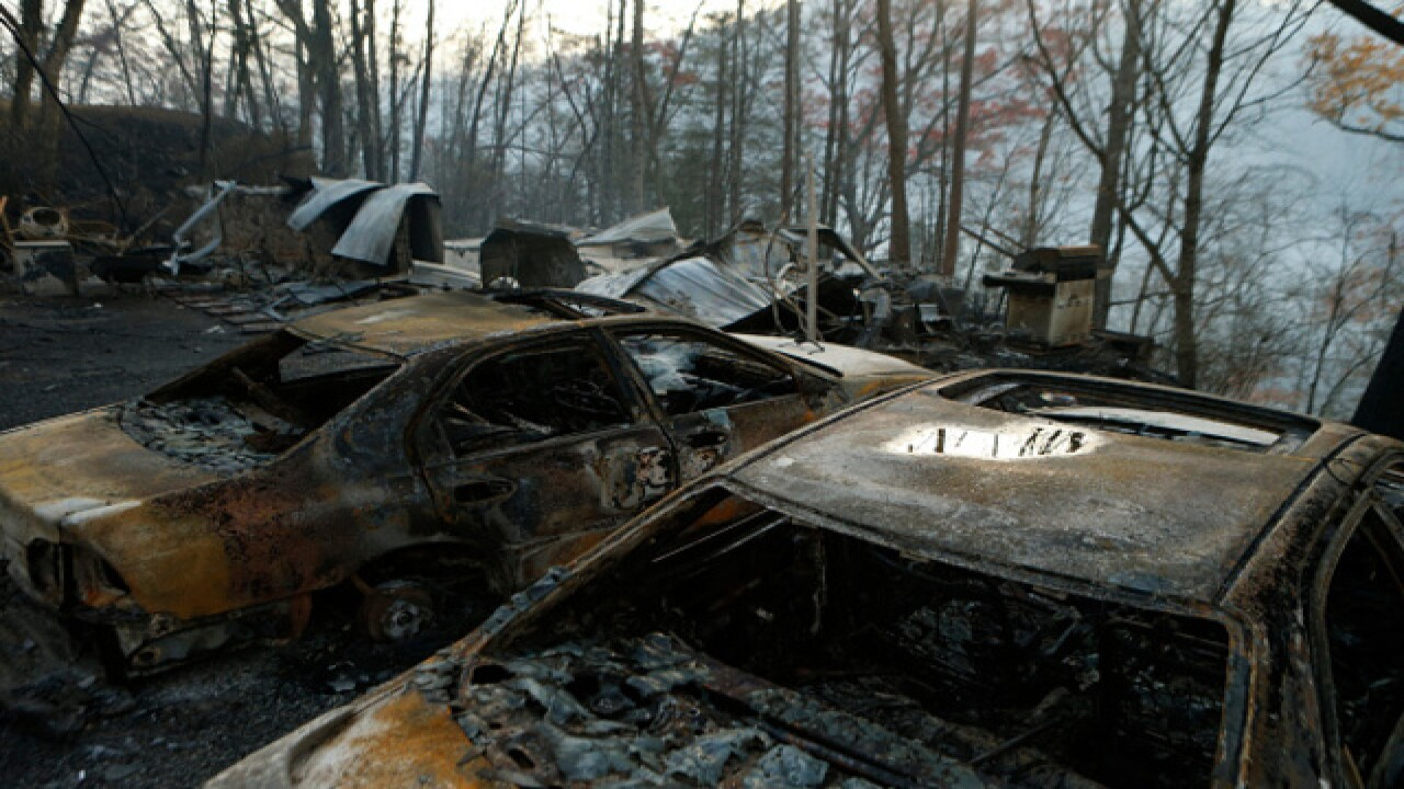 Gatlinburg wildfire death toll increases to 10