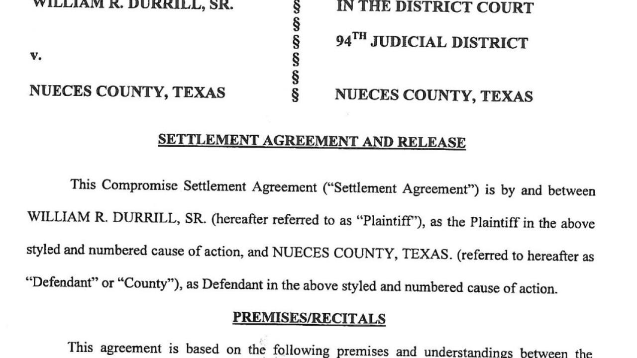 Nueces County settlement agreement