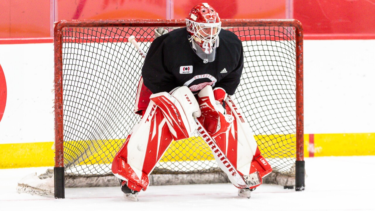 Jonathan Bernier 2020-21 Detroit Red Wings Training Camp - Day 2