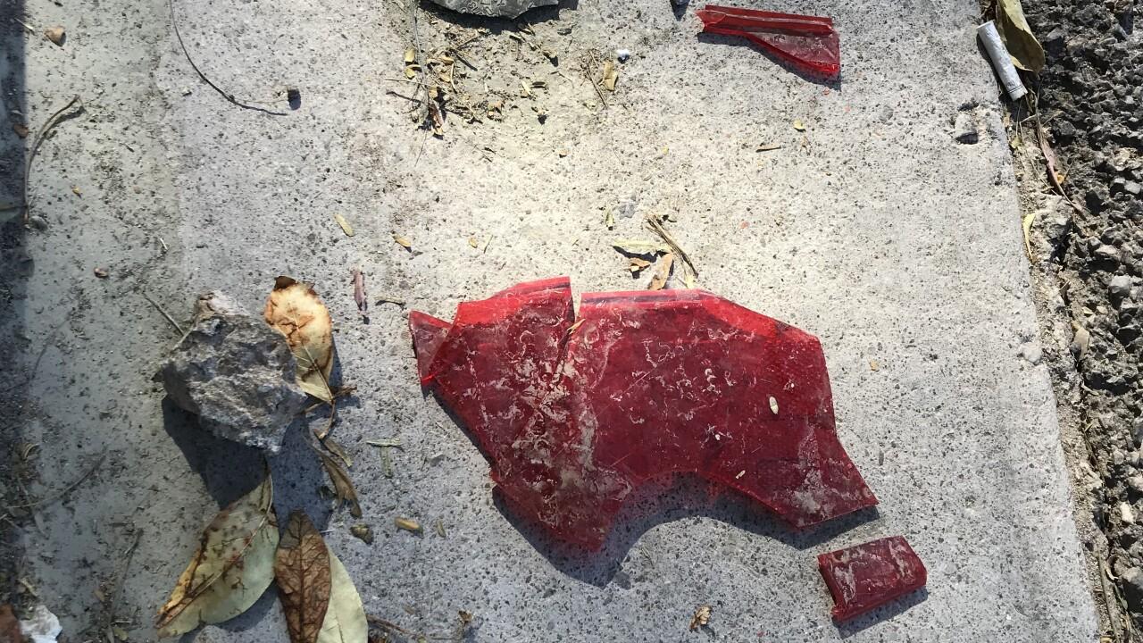Crash scene at Fort Apache and Furnace Gulf