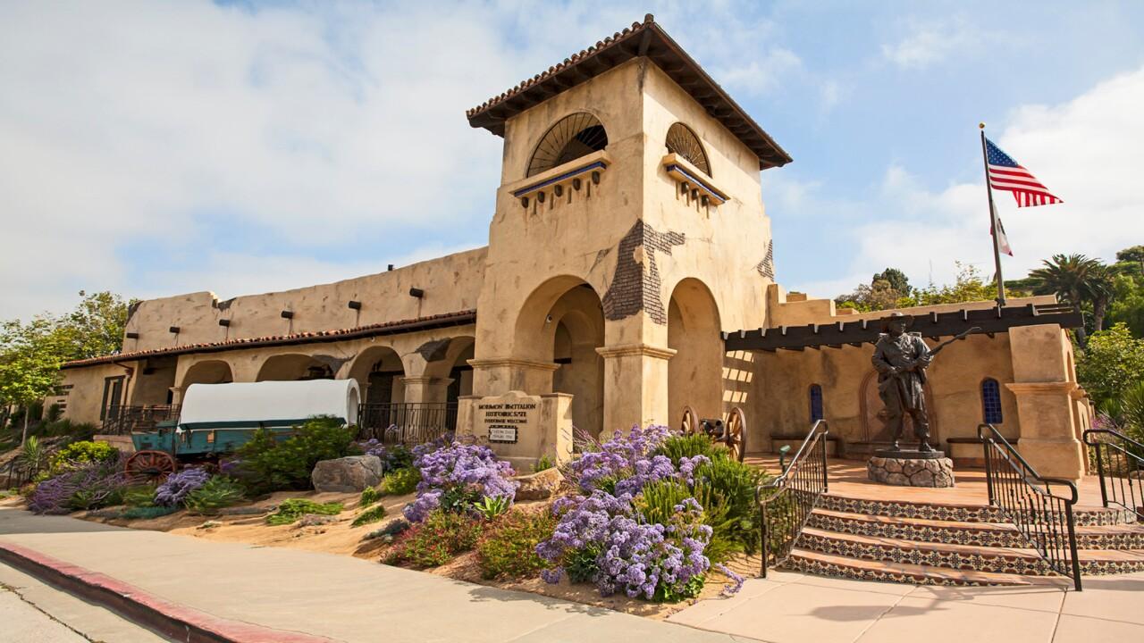 The Mormon Battalion Center at San Diego, California.