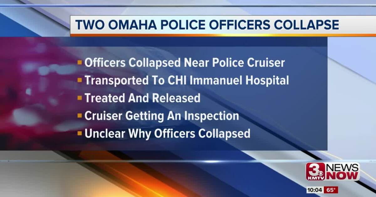 Unclear why two Omaha Police officers collapsed Thursday