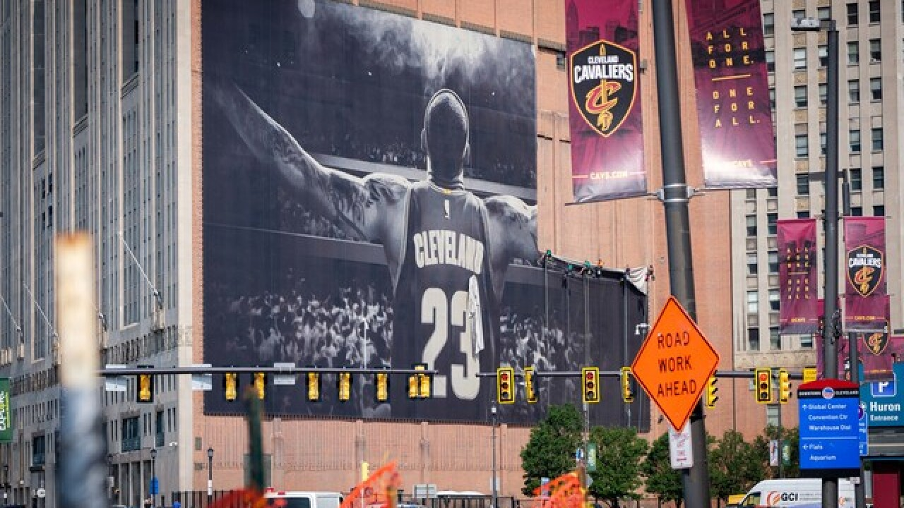 LeBron James banner is coming down today