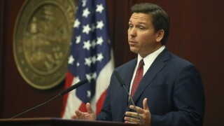 Gov. Ron DeSantis speaks during State of the State address, March 2, 2021