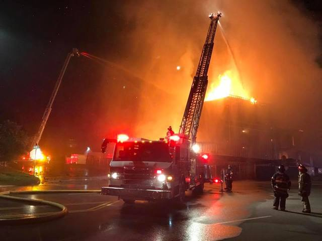 118-year-old Windsor Mill goes up in flames