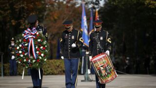 Vice President Pence Commemorates Veterans Day At Arlington National Cemetery