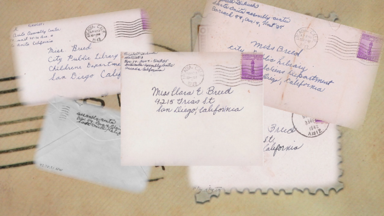 CLARA BREED. Letter envelopes.png