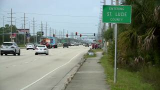 'Entering St. Lucie County' sign