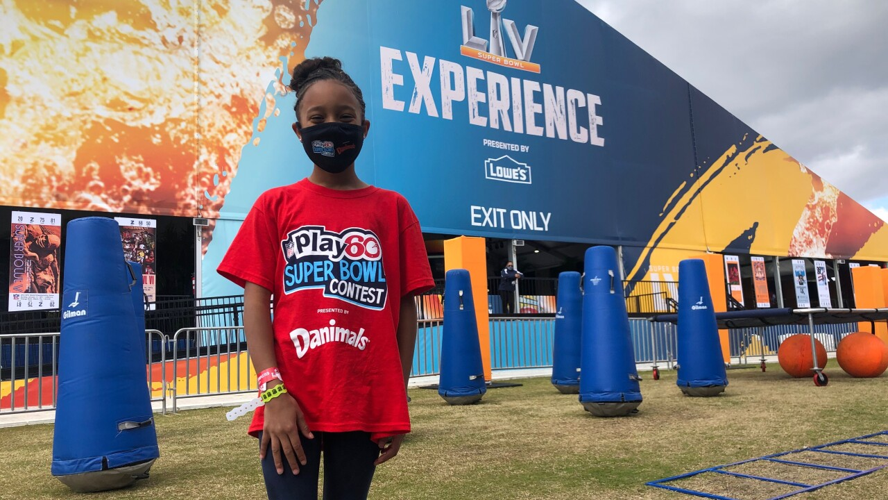 Polk County student attends Super Bowl LV as NFL Kid Correspondent