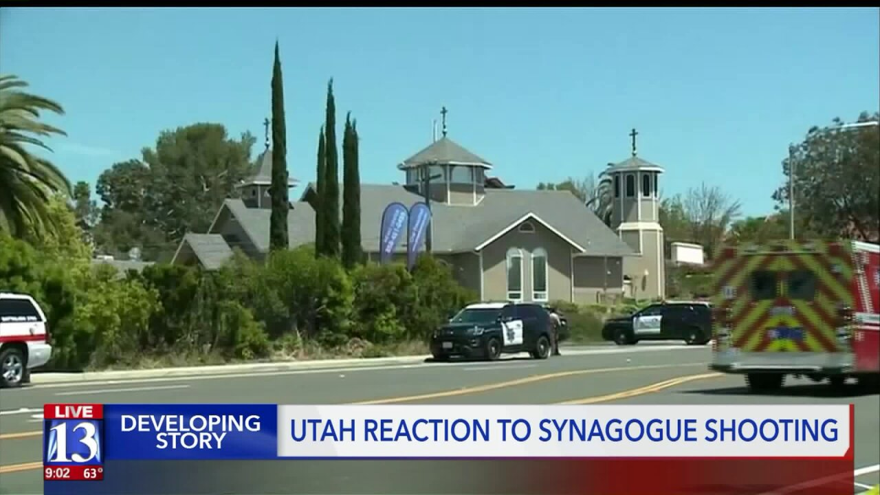Utah Jewish Community condems shooting at San Diego synagogue, offerssupport