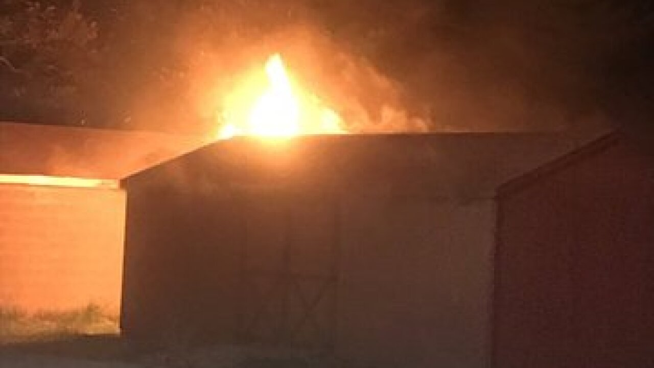 School shed fire prompts Fire Marshal probe