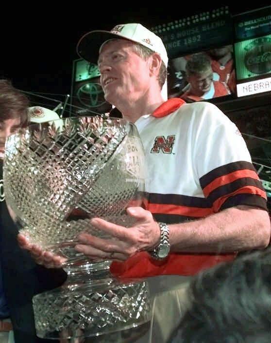 Nebraska Cornhuskers coach Tom Osborne after winning 1998 Orange Bowl