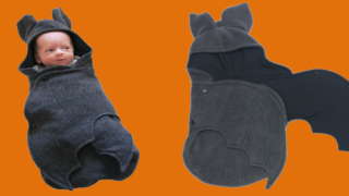 Swaddle Your Baby In A Creepy-cute Bat Blanket For Halloween