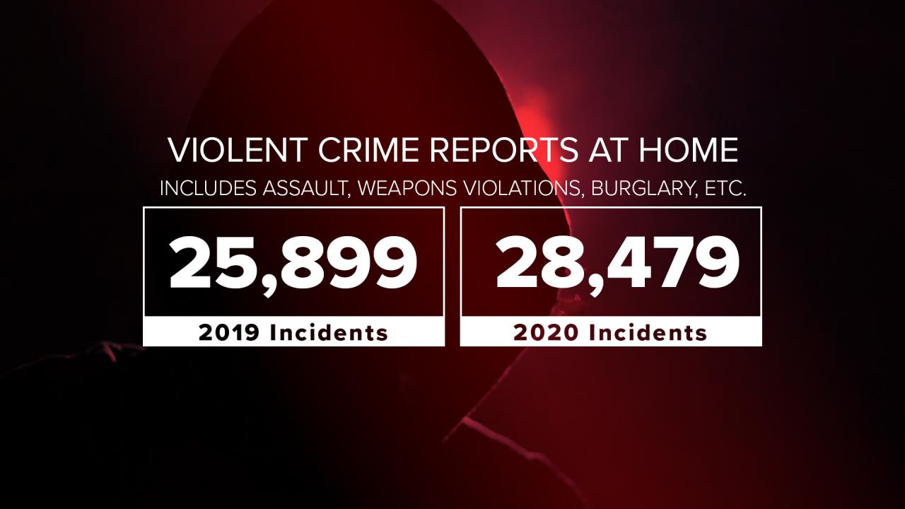 Violent Crime Reports at HOME michigan 2020