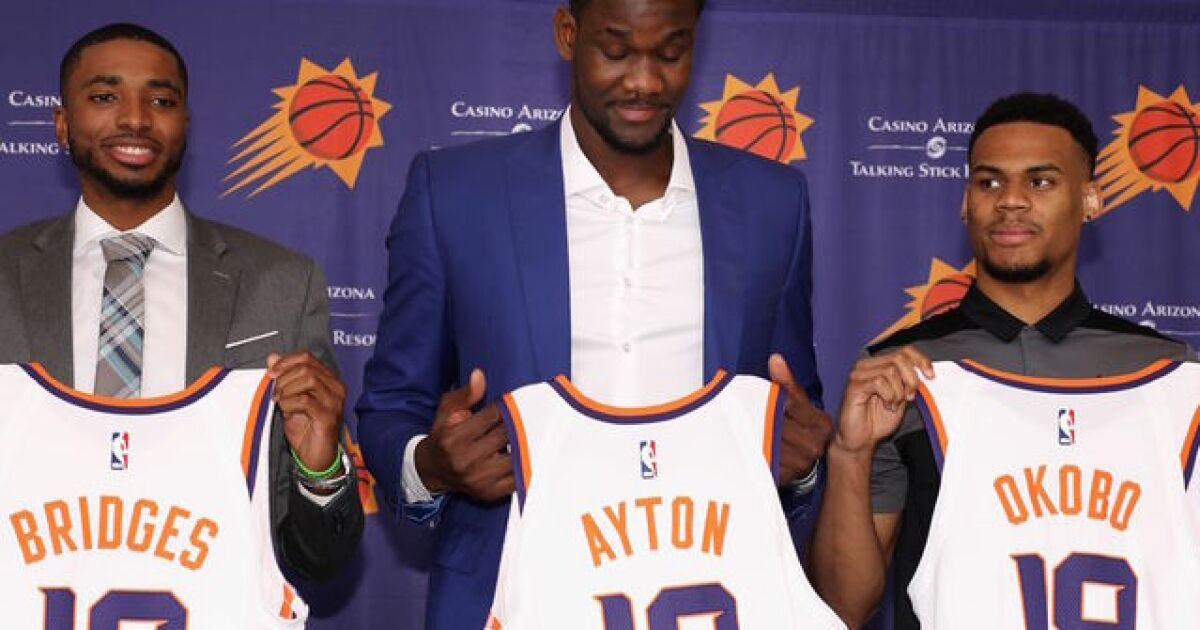 524c739eb Deandre Ayton arrives as symbol that Phoenix Suns are on the rise
