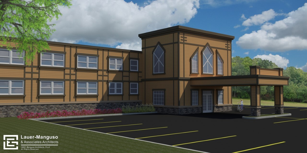 The projections of what the Home of My Own facility will look like.