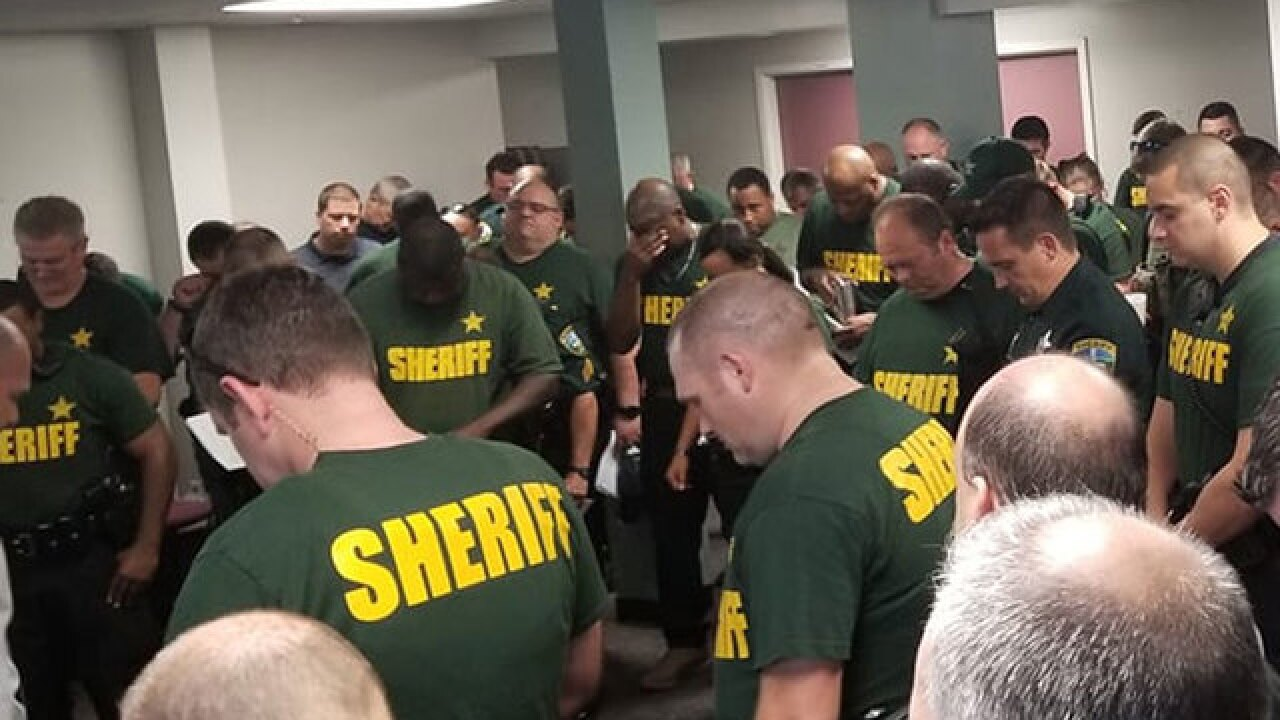 Florida Sheriff's Office prays as they prepare for Hurricane