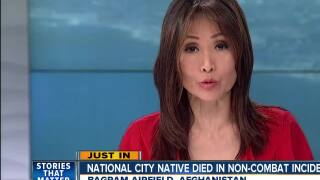 National City native died in non-combat incident in Afghanistan