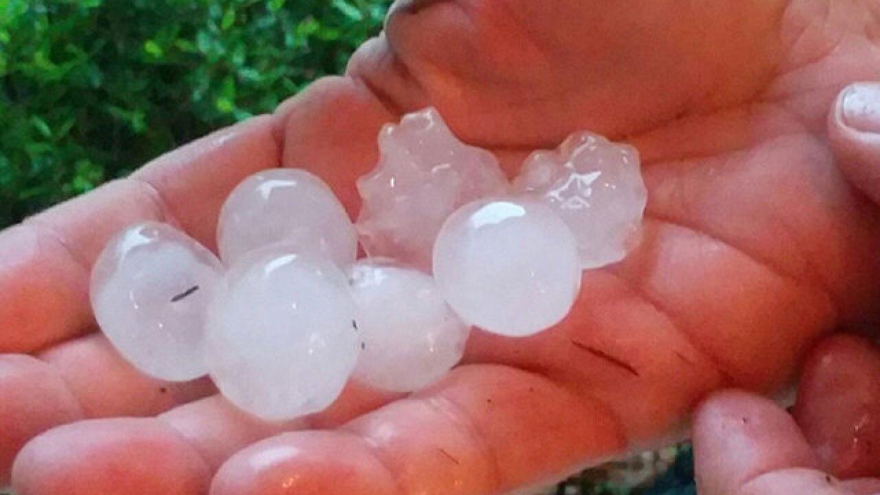 PHOTOS: Hail storm in Okeechobee, Treasure Coast