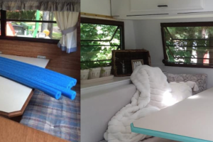 Lauren's camper transformation took only two months and under $1000