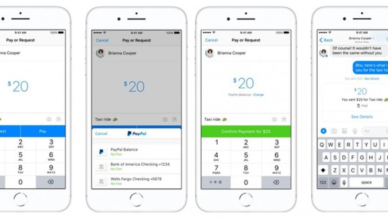 Use PayPal to send and receive money through Facebook