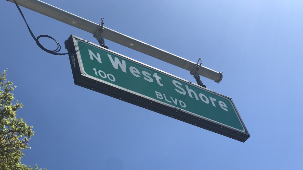 N. West Shore Blvd two words