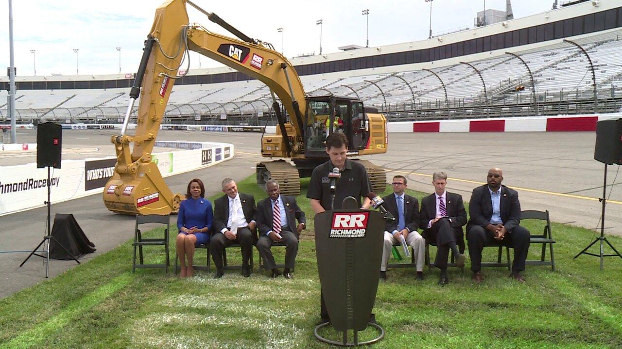 Richmond Raceway breaks ground on infieldrenovations
