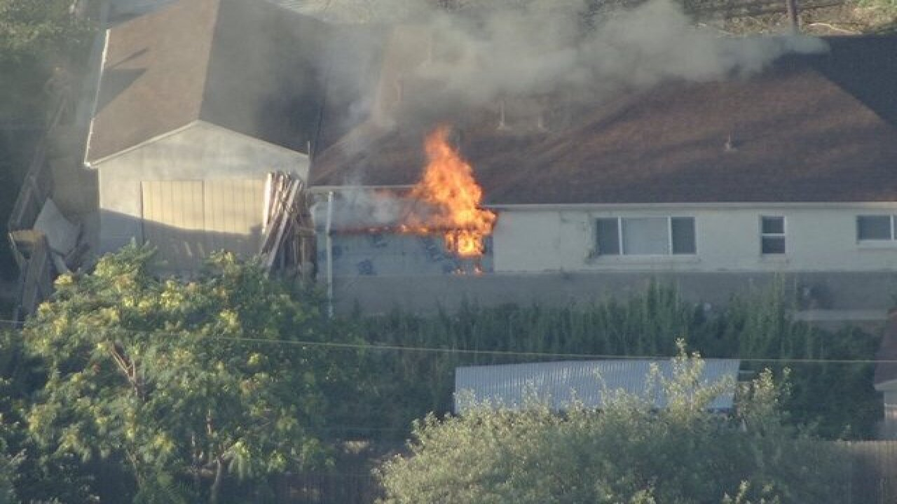 House fire burning in Denver
