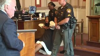 Tracie Hunter: Cincinnati courtroom explodes after former judge ordered to begin prison sentence
