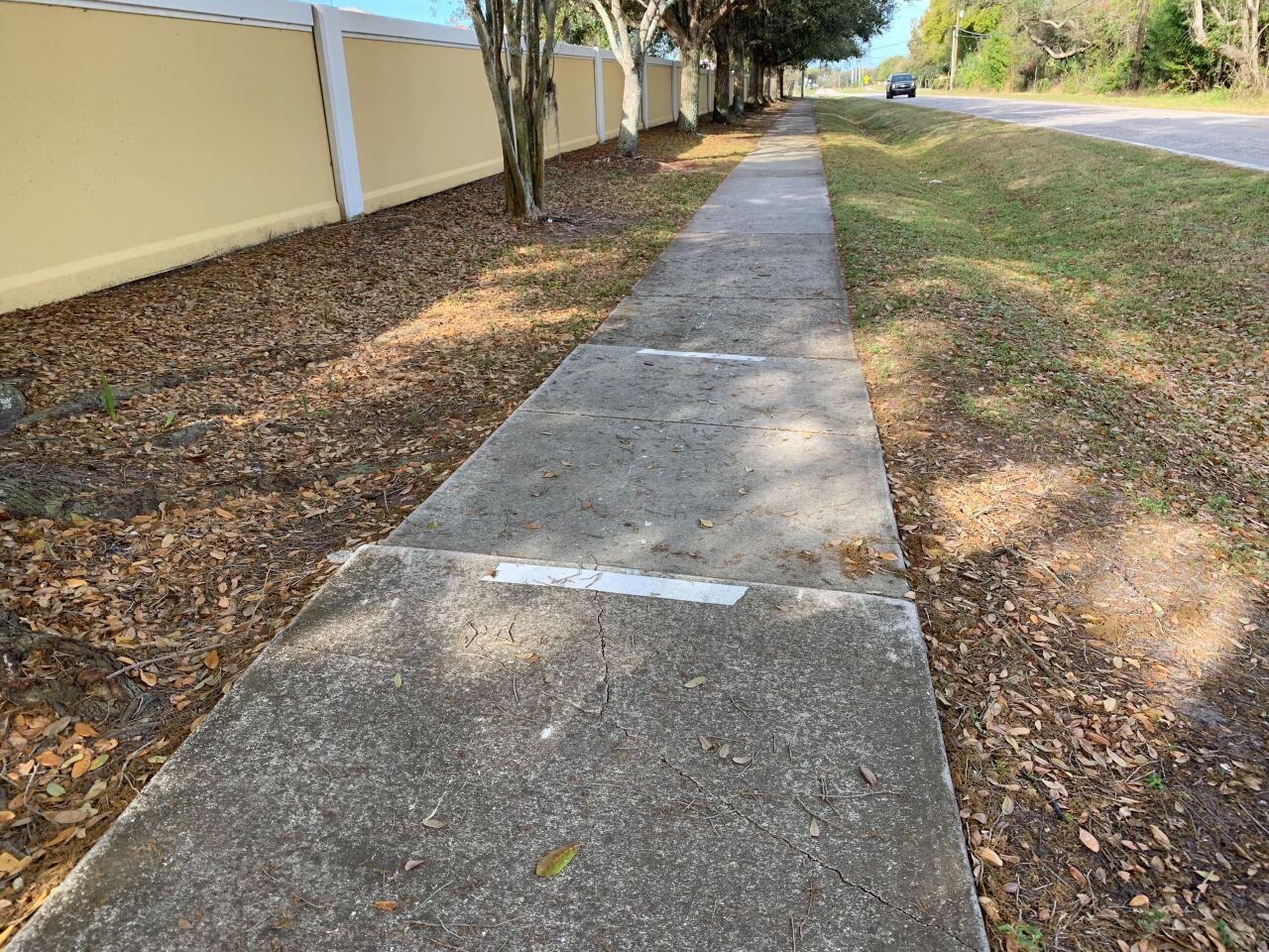 broken sidewalk southern Hillsborough County