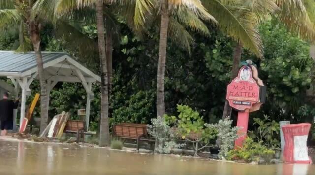 Hurricane Michael causing flooding and damage around Southwest Florida
