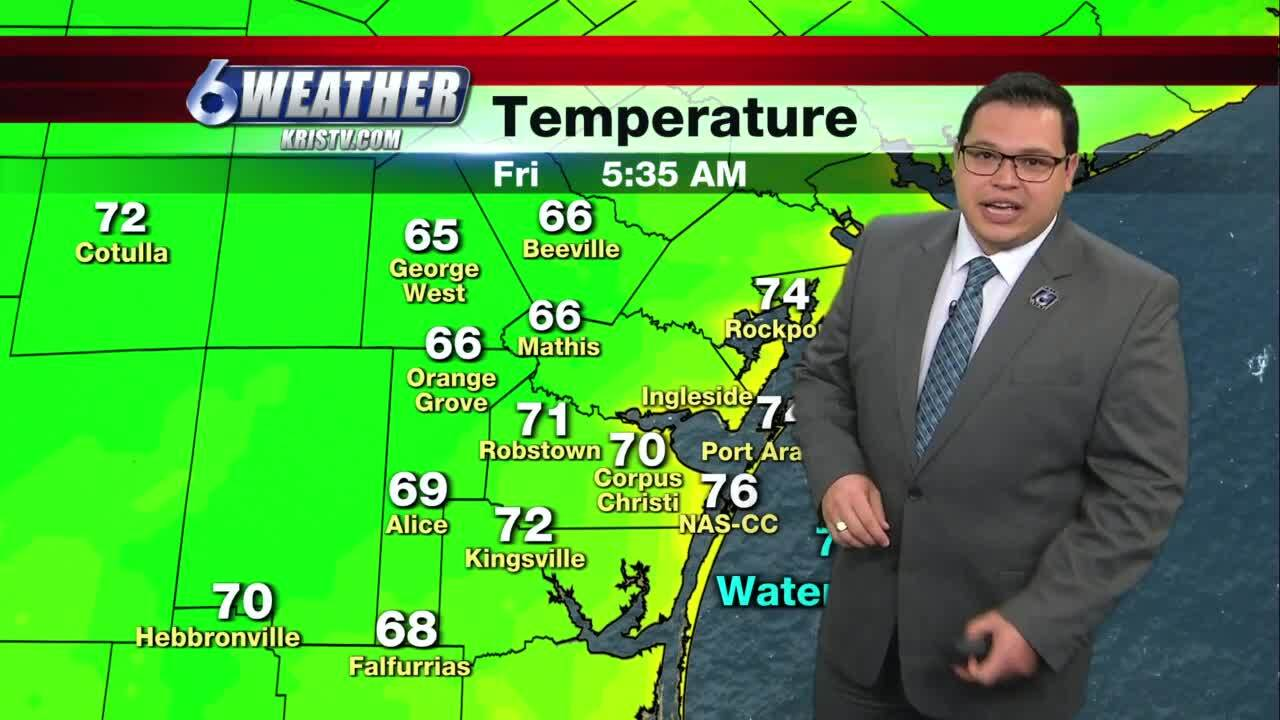 Warm, muggy conditions continue today, stretch to weekend