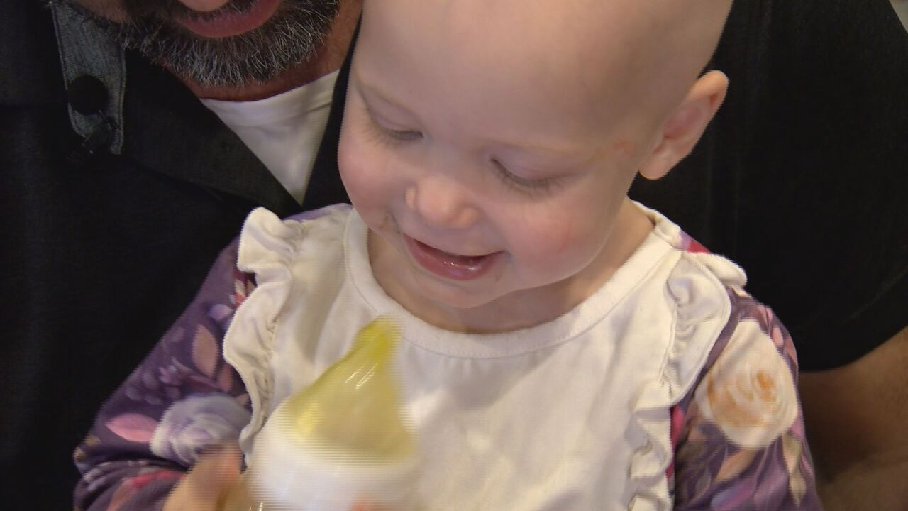 Capri Knies spending time with her family in between chemo treatments
