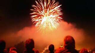 Woman caught launching fireworks at crowd