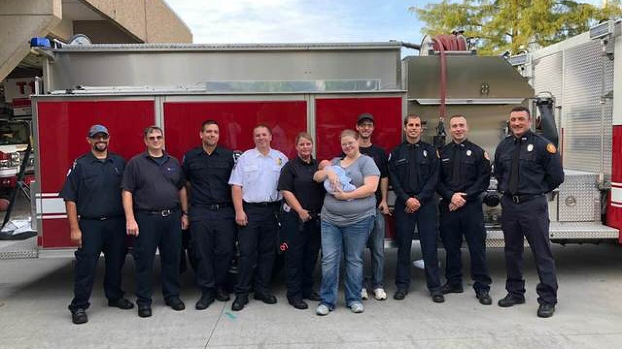 Independence firefighters help first-time mom through difficult labor