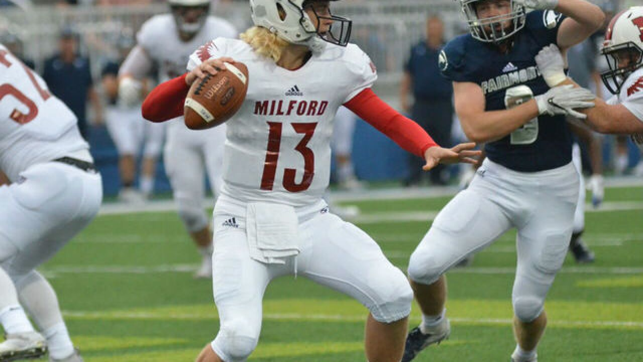Milford football team scores 71 points in a 50-point win over Loveland