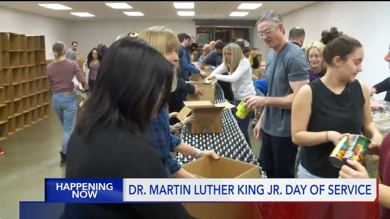 'Day of Service' at Utah Food Bank on Martin Luther King Jr. Day