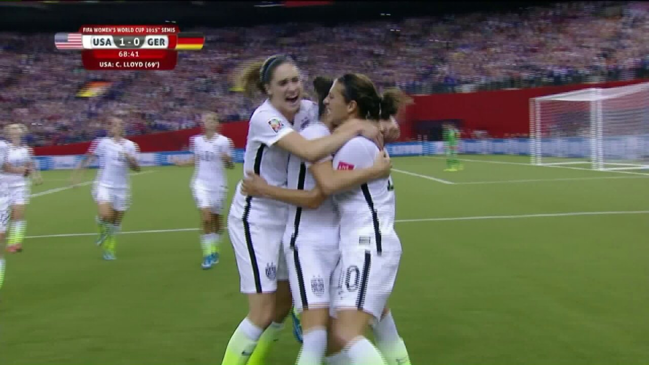 U.S. defeats Germany in Women's World Cup semifinal match