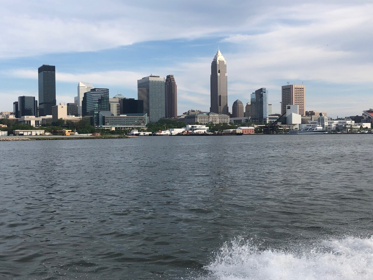 Cleveland skyline from Lake Erie