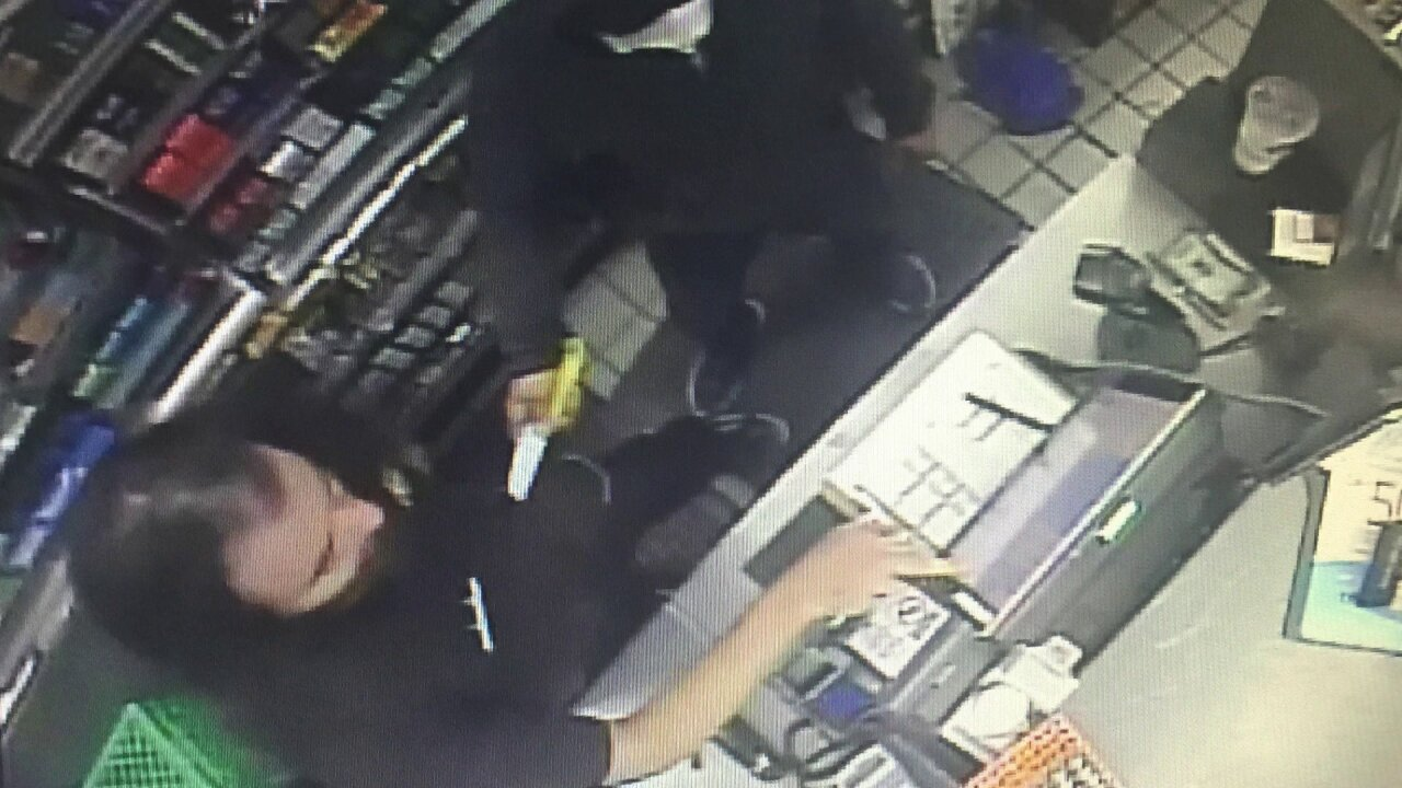 Richmond Exxon robbed Monday night by suspect wielding butcher knife