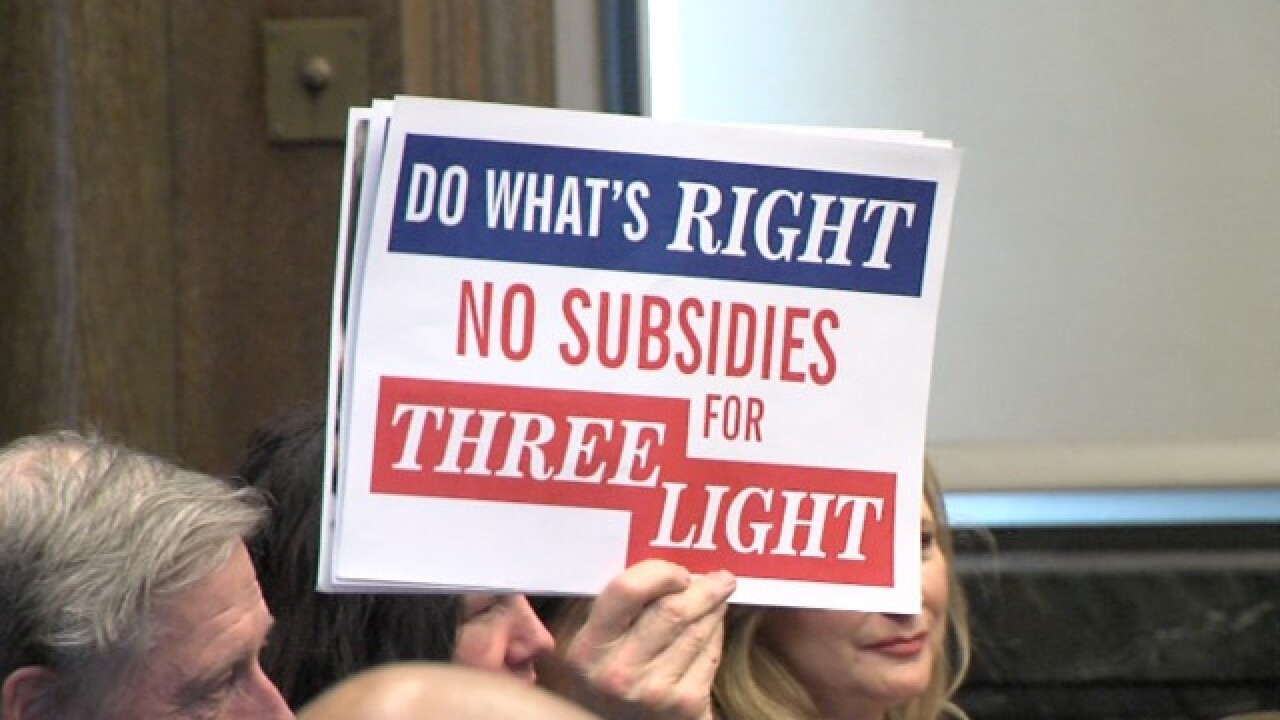 Three Light compromise to go before council