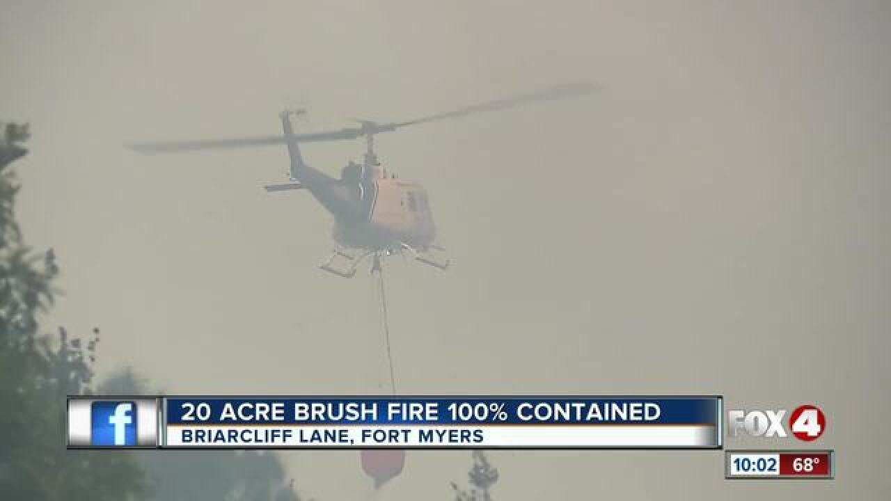 Evacuations from fire near Briarcliff Lane