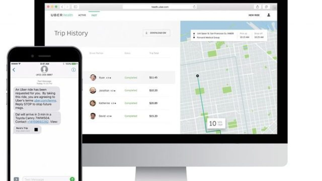 'Uber Health' allows docs to get patients a ride